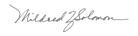 Mildred Signature
