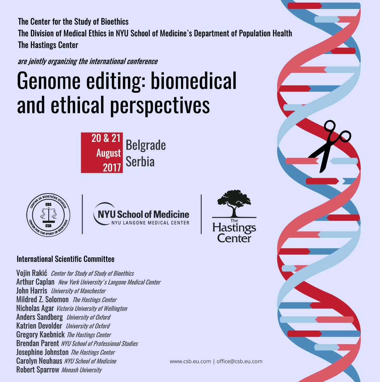 ethics of gene editing
